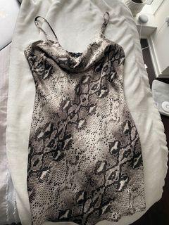 Snakeskin silk dress