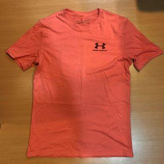 UA Logo橘粉色素T 短袖