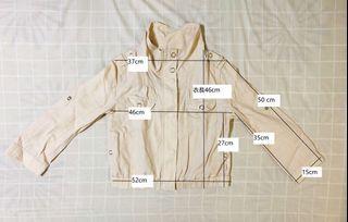 夏季棉麻透氣短版獵裝款夾克外套