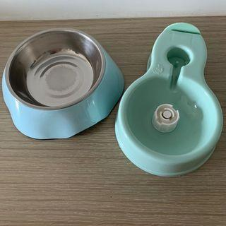 寵物 自動續水水兜 自動出水 水盤 兩用食物兜 食物碗 貓碗 pet bowl