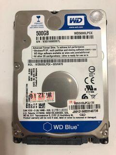 二手 WD 威騰 WD5000LPC 藍標 2.5吋 500GB SATA 硬碟