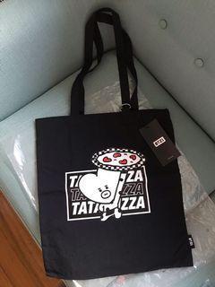 BTS BT21 Official TATA Black Tote Bag