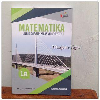 Buku Matematika kelas VII Semester 1 - Erlangga - 1A - K13 Revisi 2016