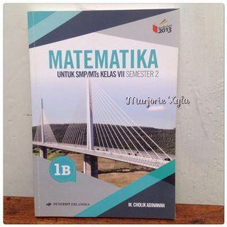 Buku Matematika kelas VII Semester 2 - Erlangga - 1B - K13 Revisi 2016