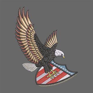 Embroidery Design: Bald Eagle Logo