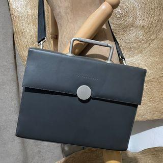 FX CREATIONS Leather Document Hard Sling Bag