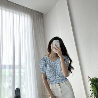 GINGHAM PATTERN TOP
