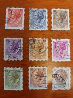 【No.1】Italy 1953 or later stamps partly set