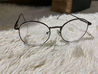 Kacamata Vintage frame hitam polos