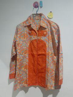 Kemeja batik orange