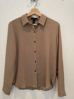 Light brown button down blouse