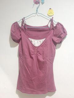 Lilac bow top