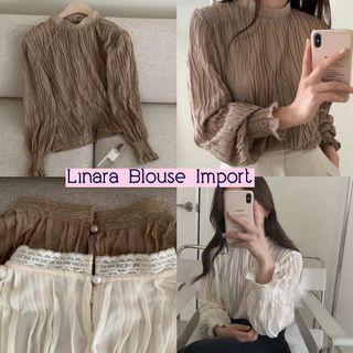 Linara Blouse import blouse panjang import blouse polos blouse tile