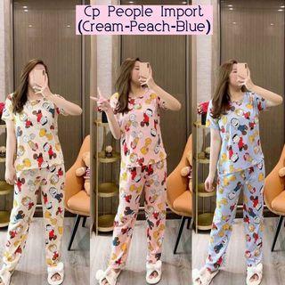 People Setelan Piyama Import Piyama korea baju tidur import wanita