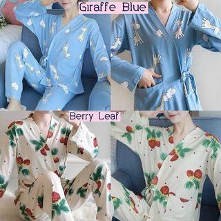 setelan piyama kimono import piyama girrafe dan piyama berry baju tidur import