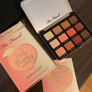 NWT Too faced just peachy mattes eyeshadow palette