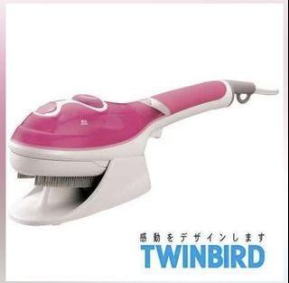 Twinbird 手持式蒸氣熨斗 粉色