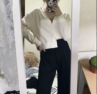 uniqlo 棉質羅紋開襟外套 S