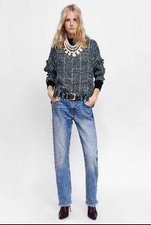 Zara Tweed Fringe Top