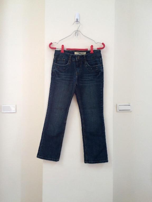 刺繡鉚釘造型牛仔褲