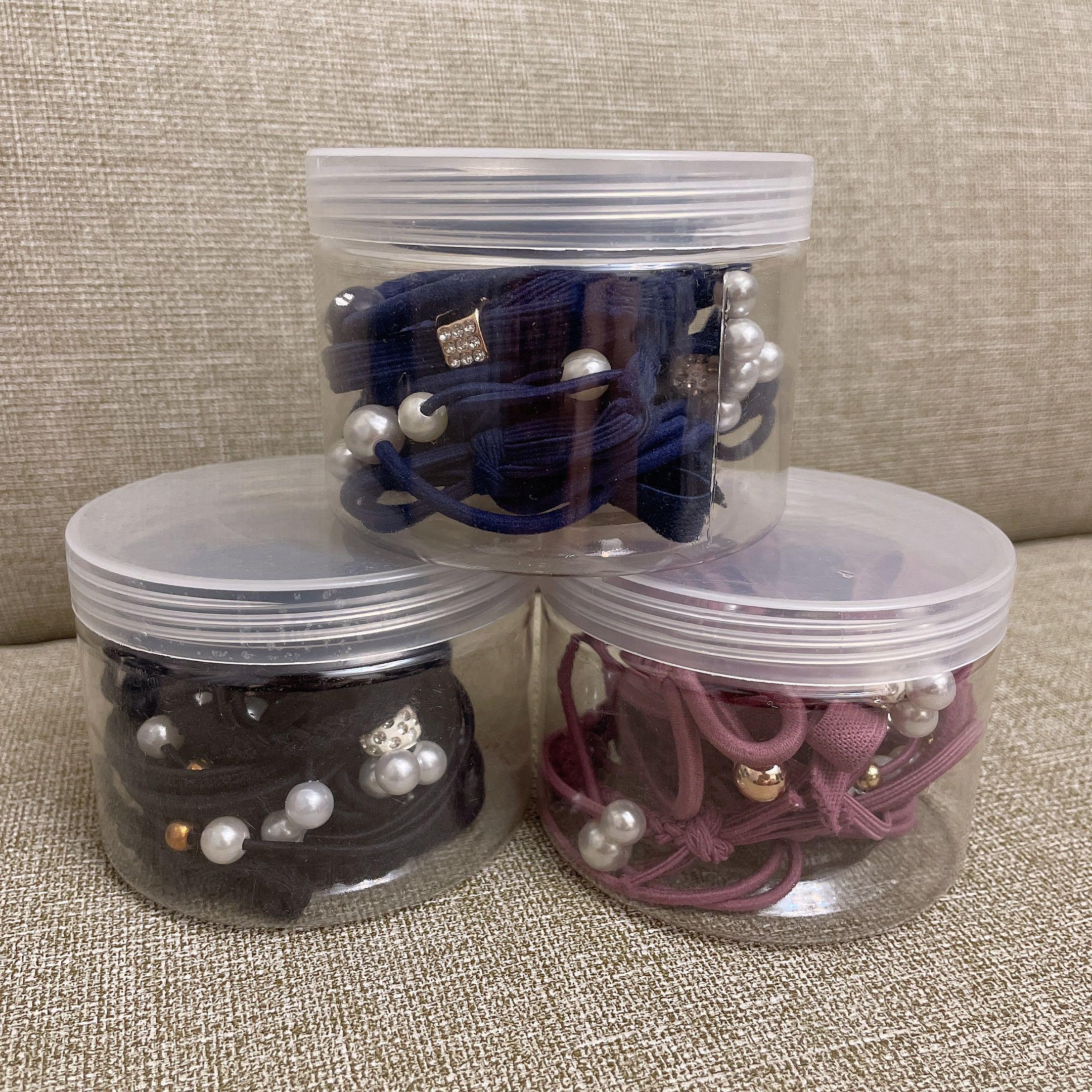 全新|綜合髮圈組約12入/盒 藍 紫 黑