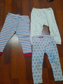 3 buah legging anak 2 tahun