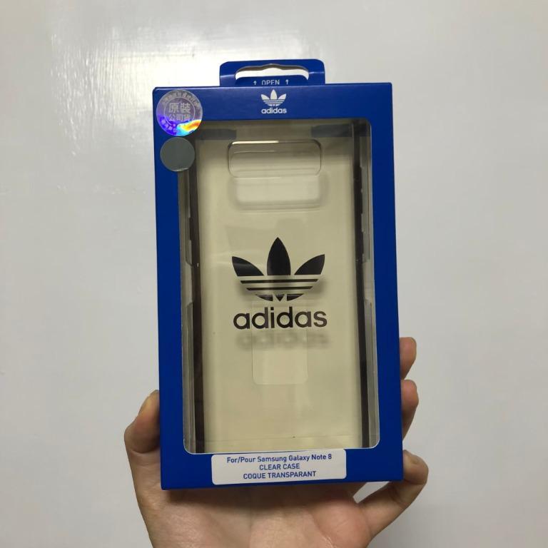 原價$799 全新正品 愛迪達 三片葉 adidas samsung note 8 三星 手機殼 透明殼 #我媽的