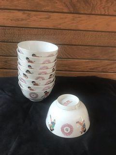 9 pcs Ping Pong liling bowls (2  3/4 inch)