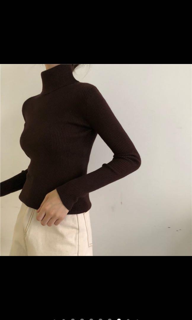 高領針織毛衣