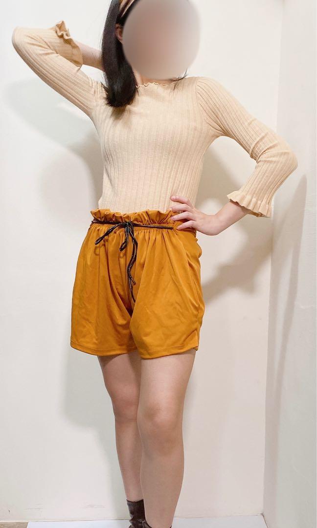 日系花苞短褲