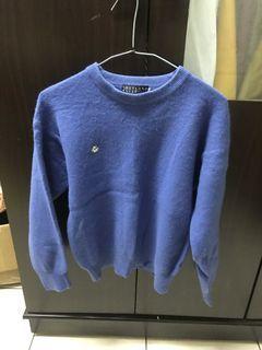 古著藍色毛衣