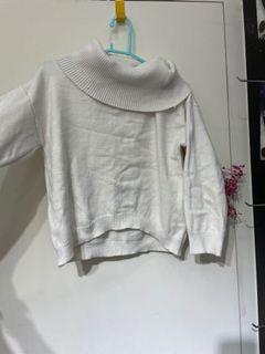 反折一字領毛衣
