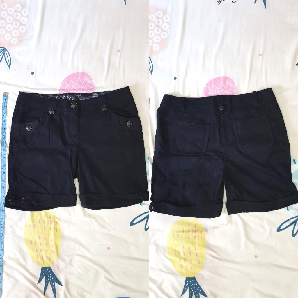 🦄反摺黑短褲.二手#我媽的