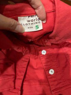 紅牛仔外套