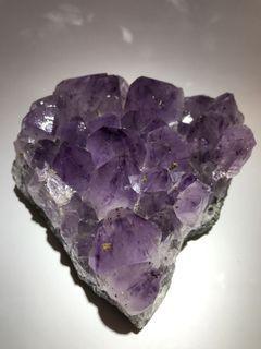 金粒鈦大牙紫晶簇
