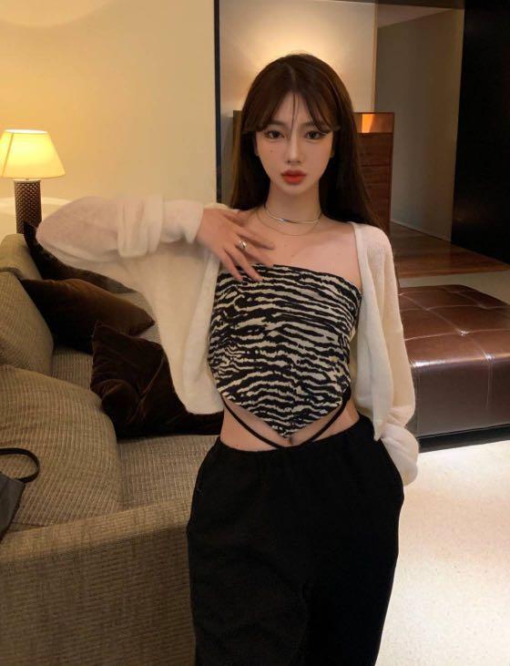 白色軟糯針織外套罩衫