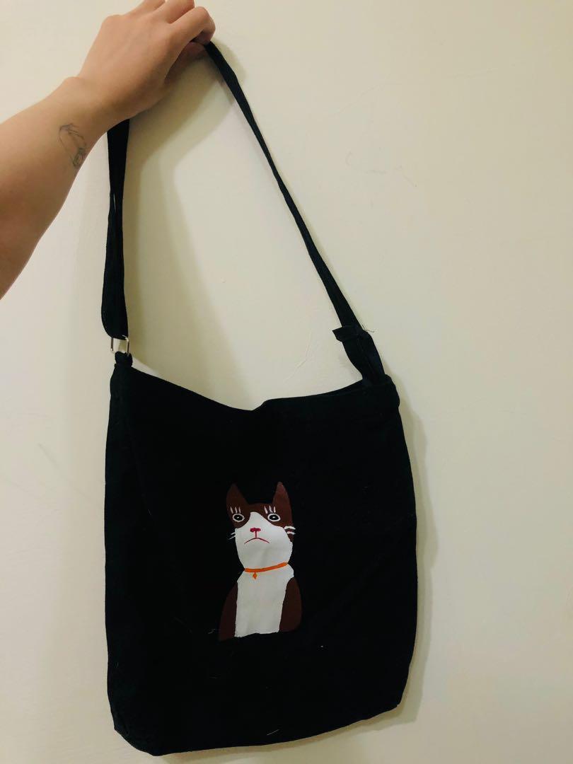 貓咪圖案側背包