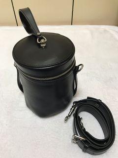 真皮包 二手 黑色 圓桶包