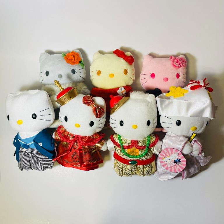 (絕版品) Hello Kitty 玩偶 珍藏麥當勞 20週年 限量版 (3組 9隻 不拆賣)