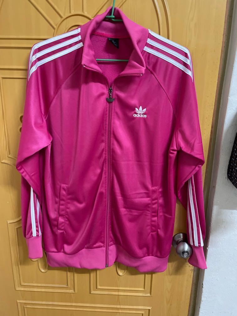 Adidas桃粉外套