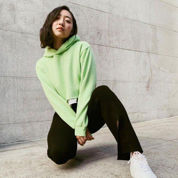Aritzia tna perfect hoodie crop