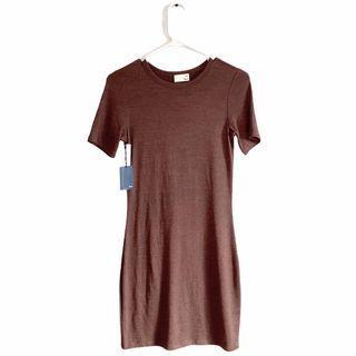 aritzia wilfred brown dress