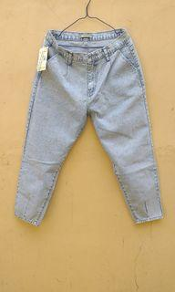 """Baggy Hi-Rise Snow White """"CKEY JEANS"""" slouchy jeans"""