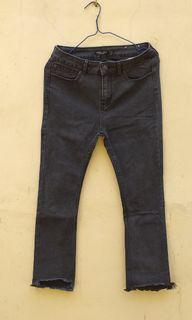 Bershka Black Unfinish Jeans