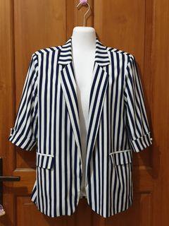 Blue stripe casual blazer