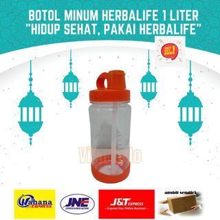 Botol Tempat Minum Herbalife Original Oranye Orange 1 Liter 1000 ml