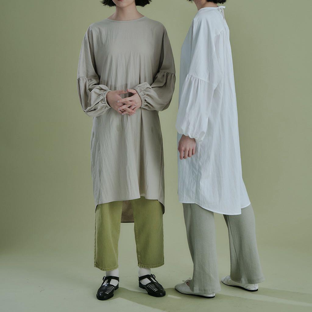 Brodnyd 拋袖後綁帶上衣洋裝 綠