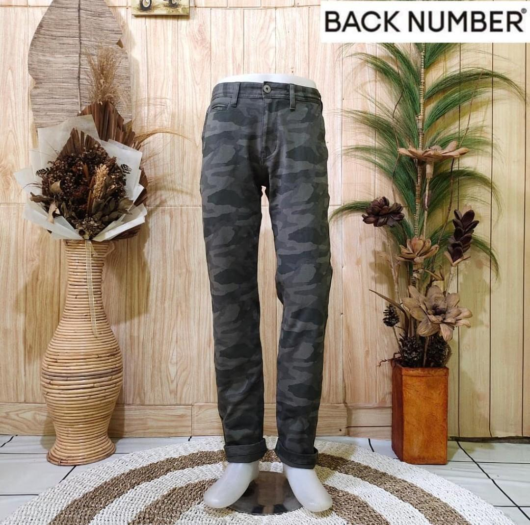 CELANA CHINO PANTS CAMO ARMY BACK NUMBER SECOND PRELOVED