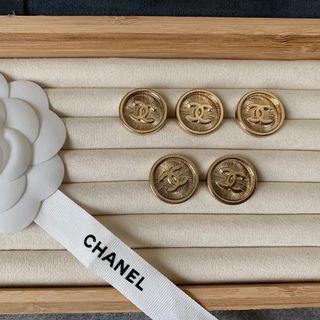 Chanel 金色鈕扣 2/4/5顆組合