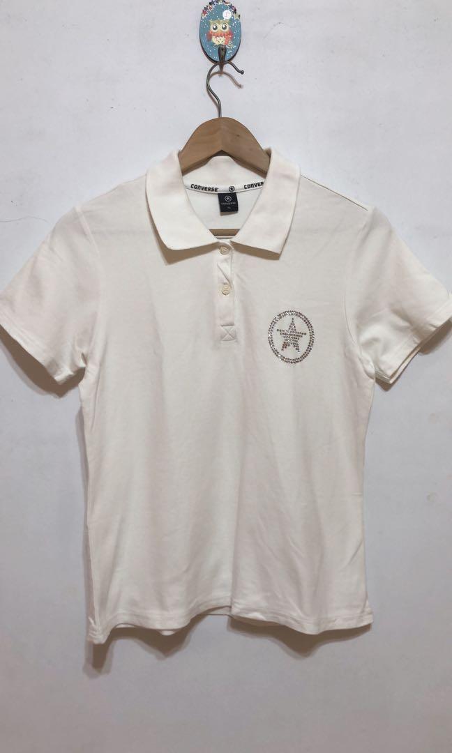 Converse 白色短袖上衣 XL號